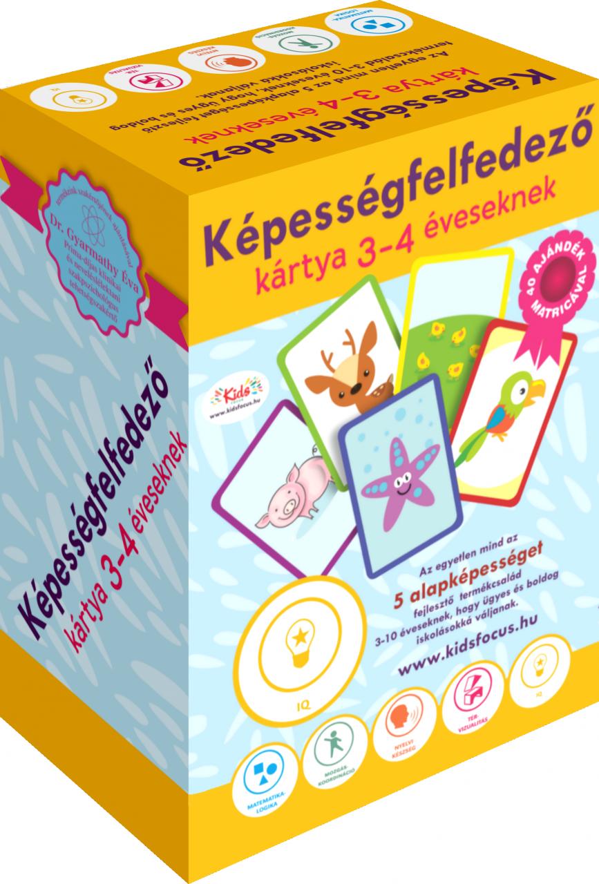 Képességfelfedező kártya 3–4 éveseknek