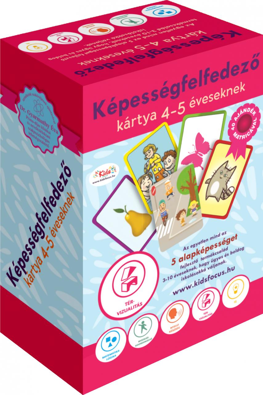 Képességfelfedező kártya 4–5 éveseknek