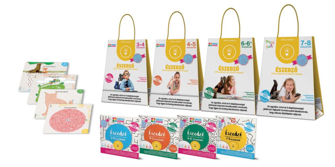 Észedző – intelligencia fejlesztő csomag 3–4 éveseknek