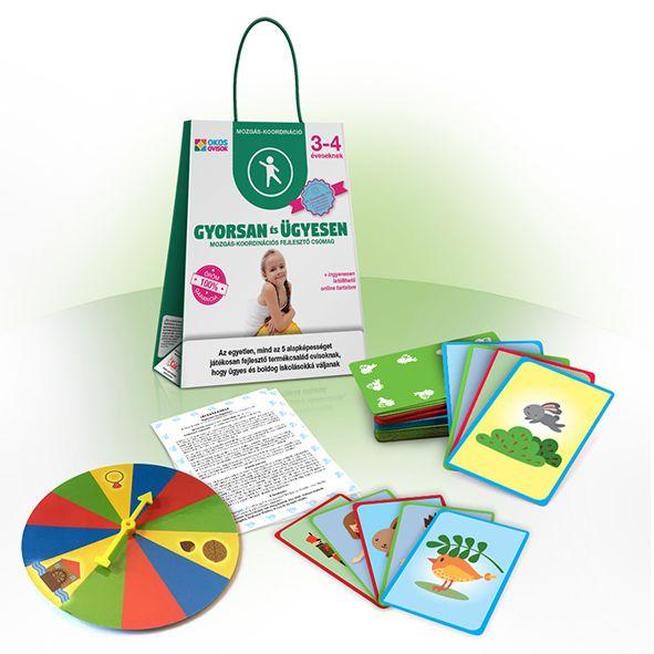 Gyorsan és ügyesen – mozgáskoordinációs képességfejlesztő csomag 3–4 éveseknek