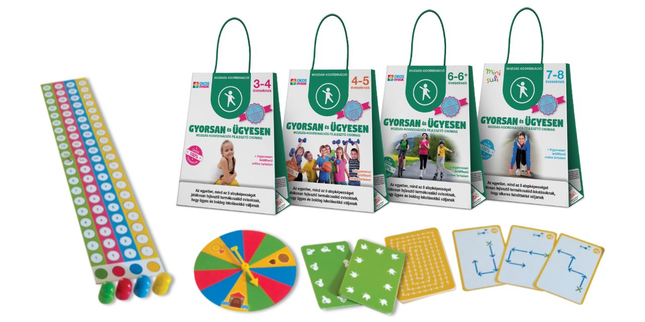 Gyorsan és ügyesen – mozgáskoordinációs képességfejlesztő csomag 4–5 éveseknek