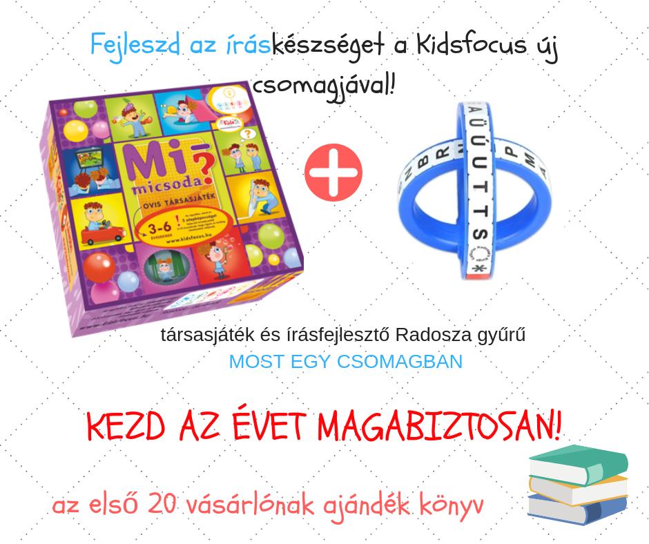Őszi akciós csomag! Radosza írógyűrű és Mi micsoda társasjáték most egy csomagban, 20% kedvezménnyel!
