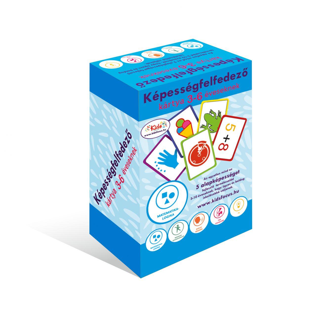 Képességfelfedező kártya 3-6 éveseknek MATEMATIKA-LOGIKA
