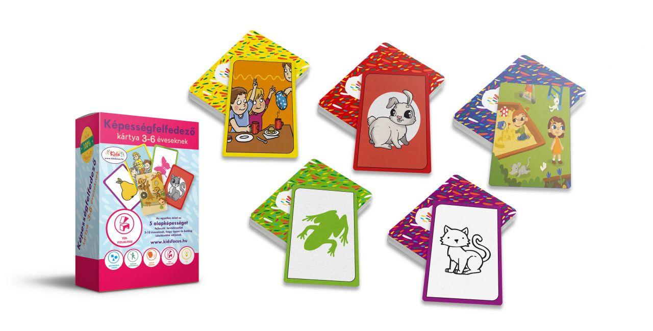 Képességfelfedező kártya 3-6 éveseknek TÉR-VIZUALITÁS