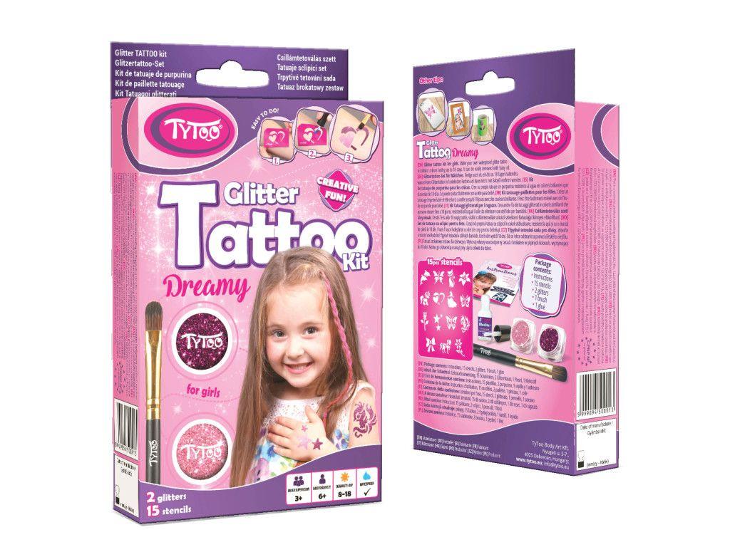 Kislányos Mini TyToo Csillámtetoválás Szett