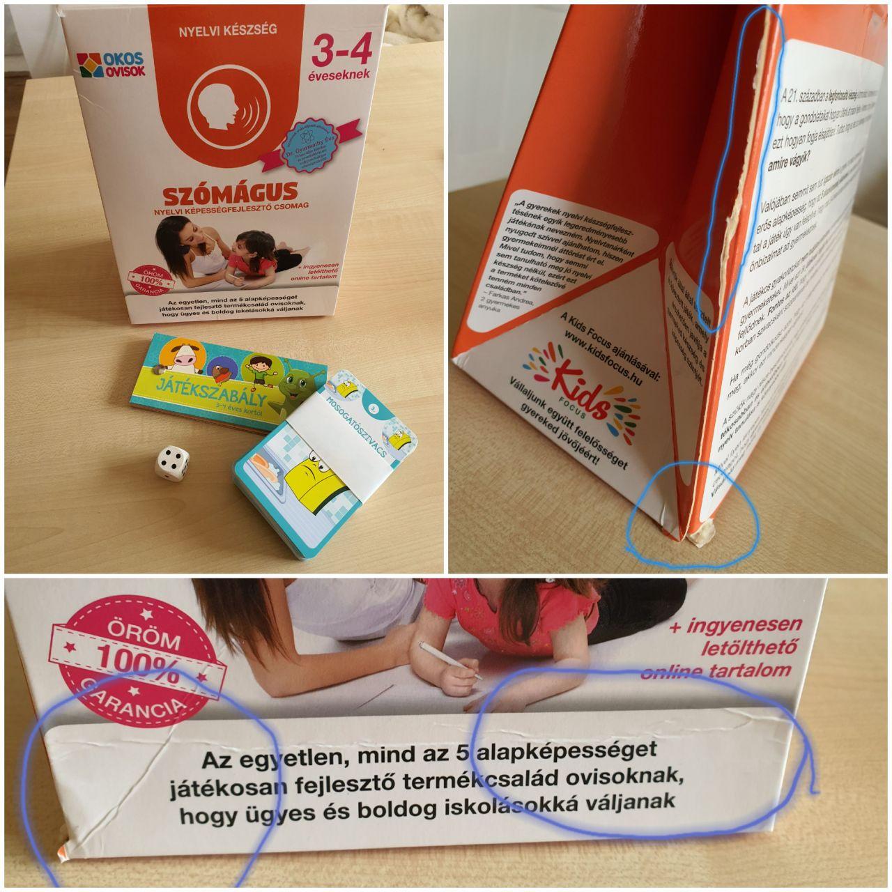 Szómágus – nyelvi képességfejlesztő csomag 3–4 éveseknek (szépséghibás)