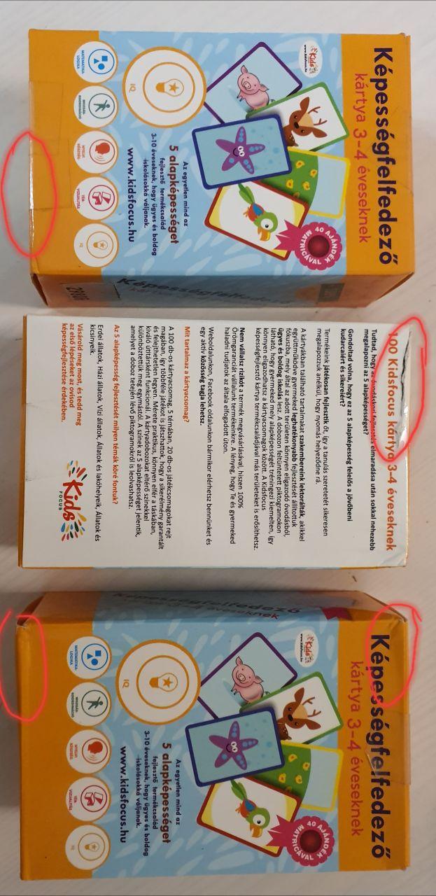 Képességfelfedező kártya 3–4 éveseknek (szépséghibás)