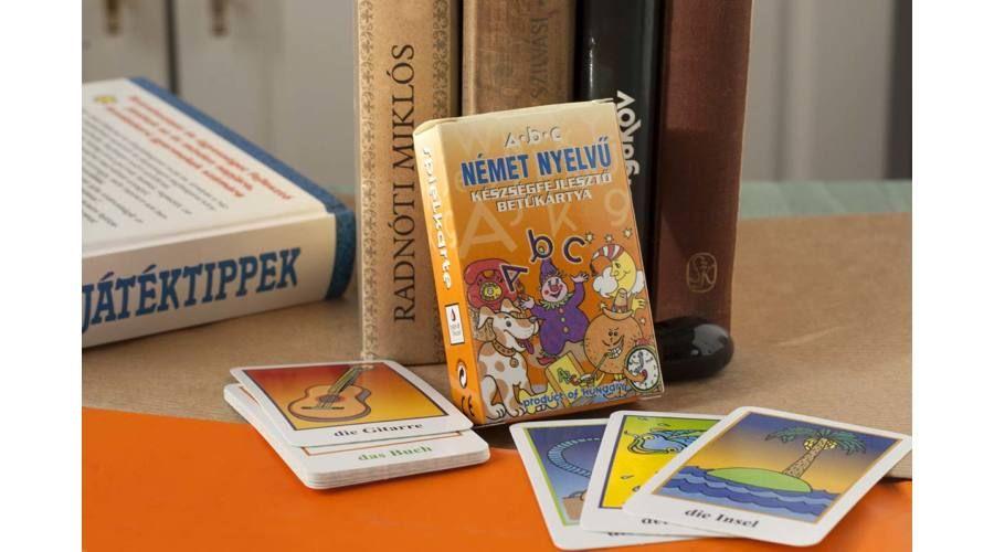 Német nyelvű készségfejlesztő kártyacsomag
