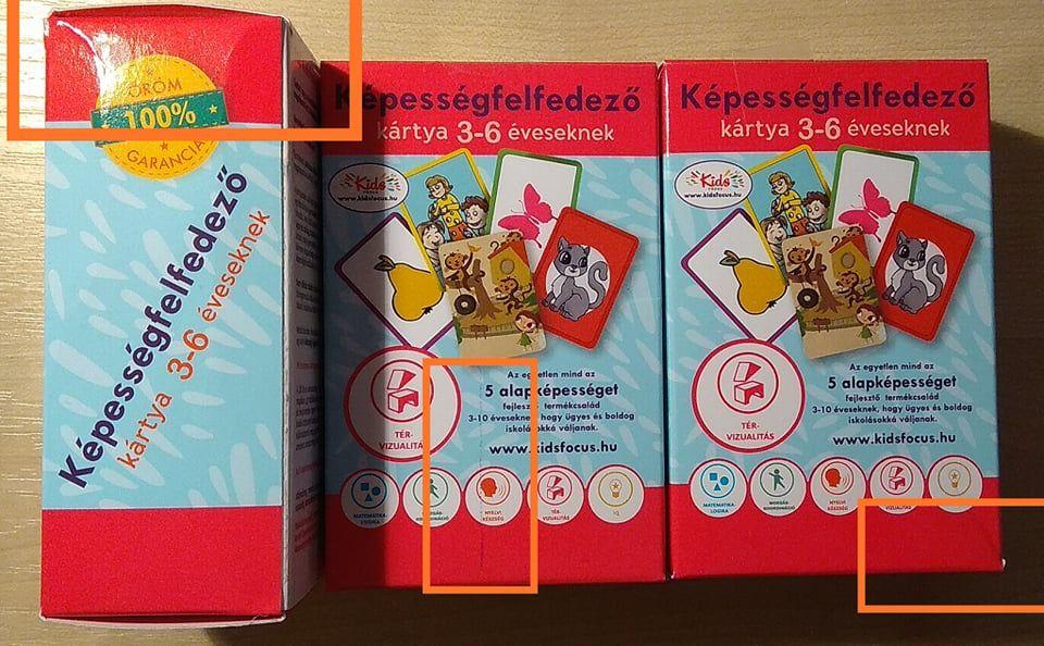 Képességfelfedező kártya 3-6 éveseknek TÉR-VIZUALITÁS (szépséghibás)
